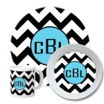 Chevron Personalized Dinnerware Set