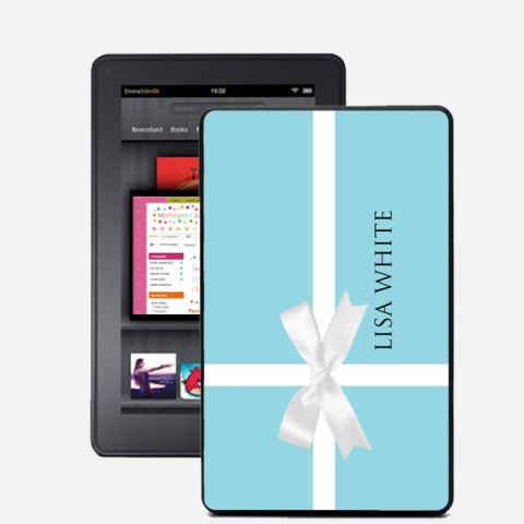 Gift Box Monogrammed Kindle Fire Snap On Case