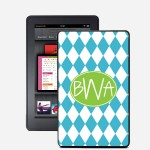 Harlequin Monogrammed Kindle Fire Snap On Case
