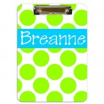 Dots Monogrammed Clipboard