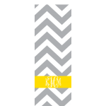 Monogrammed Grey Chevron Yoga Mat