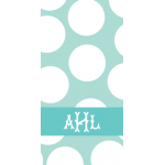 Monogrammed Giant Dot Beach Towel