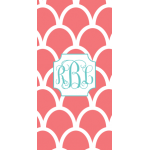 Monogrammed Indonesia Beach Towel