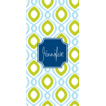 Monogrammed Happy Sky Beach Towel