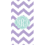 Monogrammed Purple Chevron Beach Towel