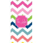 Monogrammed Multi Chevron Beach Towel