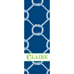 Monogrammed Nautical Yoga Mat