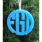 Circle Christmas Ornament Monogram