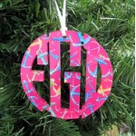 Circle Christmas Ornament Monogram – Francesca Joy