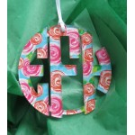 Circle Christmas Ornament Monogram – Mary Beth Goodwin