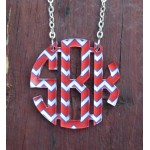 Floating Monogram Necklace – Chevron