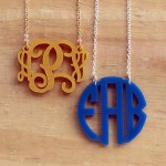 Floating Monogram Necklace