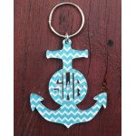 Layered Anchor Keychain – Chevron