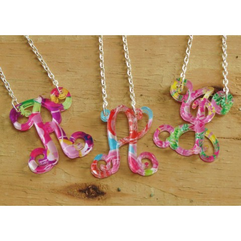 Floating Single Letter Necklace – Mary Beth Goodwin