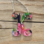 Floating Single Letter Necklace – 2014 Seasonal