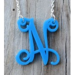 Floating Single Letter Necklace