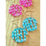 Monogram Earrings – Chevron