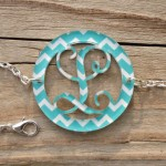 Bordered Monogram Bracelet – Chevron