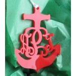 Anchor Vine Christmas Ornament
