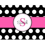 Monogrammed Stationery in Classic Black Dots