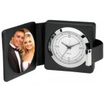 Personalized Leather Photo Alarm Travel Clock