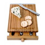 Bamboo Cheese Tools Case/Cutting Board (4 pcs)