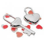 Engraved Key To My Heart Keychain