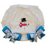 Bloomers Diaper/Pantie Cover-Snowman