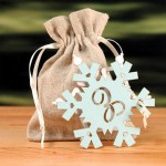 """Laser Expressions Snowflake Monogram """"Double-Luxe"""" Tag"""