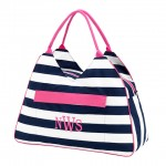 Beach Bag, Pink Stripe