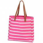 A Tote Bag, Hot Pink Stripe