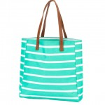 A Tote Bag, Mint Striped
