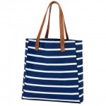 A Tote Bag, Navy Striped