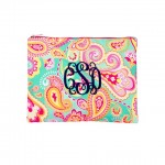 Zip Pouch, Summer Paisley