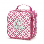 Lunch Bag, Pink Greek Key