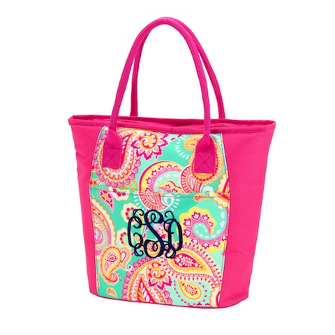 Cooler Tote, Summer Paisley