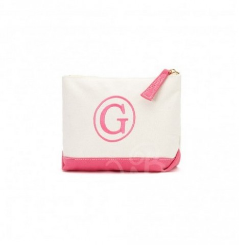 A Canvas Cosmetic Bag, Hot pink