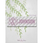 Bride and Groom Wedding Gift, Diagonal Stripes 10x30 Canvas Monogram, Last Name Sign, Wedding Date (3906)