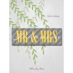 Wedding keepsake gift personalized - bride and groom reception sign - mr and mrs family name sign - 10x30 canvas wedding sign (3914)