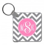 Monogram Key Chain Chevron