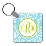 Monogram Key Chain Coral