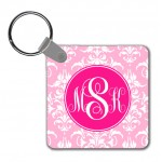 Monogram Key Chain Damask
