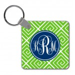 Monogram Key Chain Funky Greek
