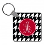 Monogram Key Chain Houndstooth