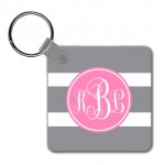 Monogram Key Chain Stripes