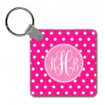 Monogram Key Chain Mini Polka Dots