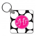 Monogram Key Chain Biggie Polka