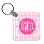 Squares Monogram Key Chain