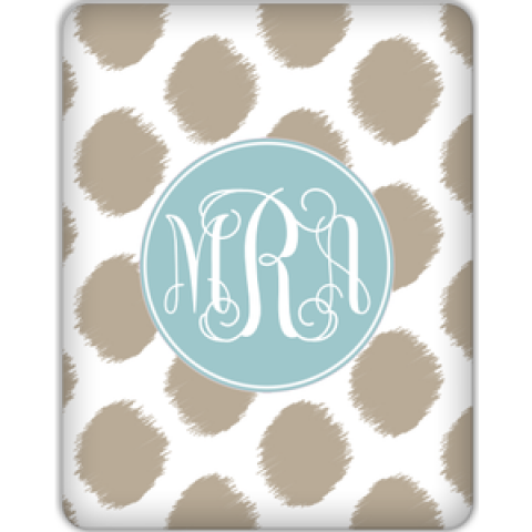 Ikat Monogram Tablet Skin for your iPad 1, iPad 2, NEW Kindle Fire, Samsung Galaxy and more!