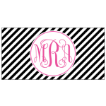 Black Stripe Car Tag